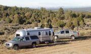Airstream deer camp NM 2006
