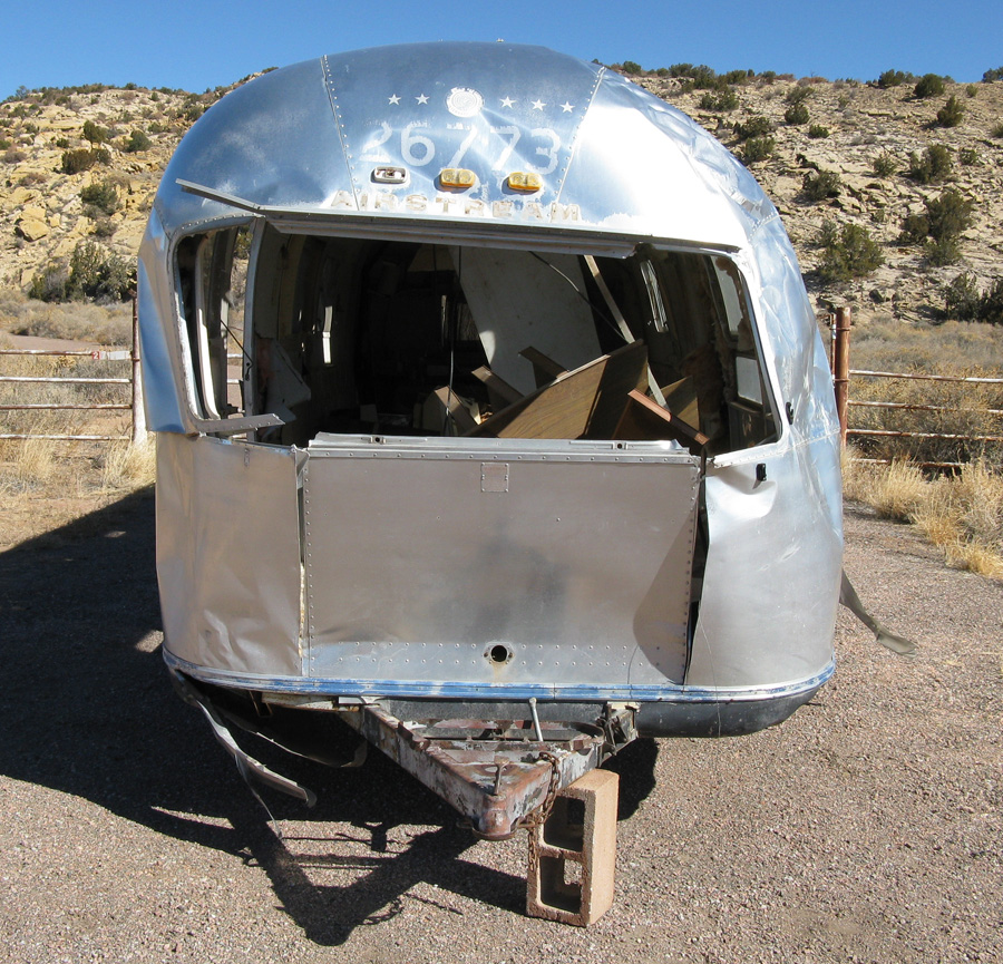 Wrecked Airstream