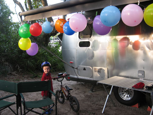 Preparing for a birthday party in Florida