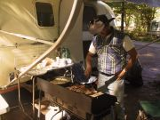 "Brother-In-law ""Big Bad Billy"" cooking some grub at our camp."