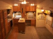 Photo of our Montana fifth wheel kitchen area.