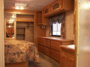 Fifth wheel bedroom over front.