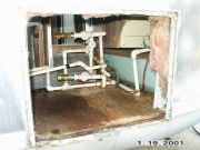 View of opening with water heater removed