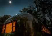 Airstream In The Moonlight