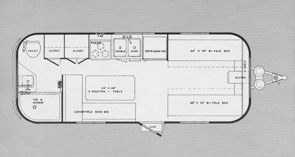 60 22' Spaceliner Floor Plan