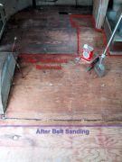 Stages of floor restoration...