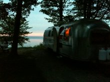 Airstream On Lake Ontario In Goldern Hill State Park, Ny