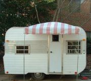 6' X 6' Arched Up Vintage Trailer Awning