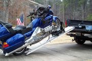 Motorcycle Loaded for our Trip