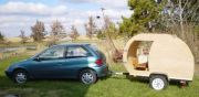 Geo Metro *can* tow a camper!  Jay's Journette design fits the bill.