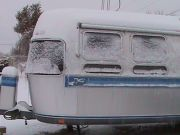 Airstream In The Snow