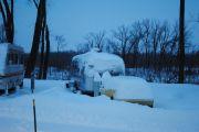 Snowy Morning In Davenport