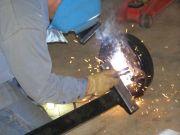 Welding Old Shockmount to New Axle