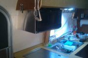 Custom Microwave Shelf