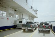 Crossing the James River on the Jamestown Ferry