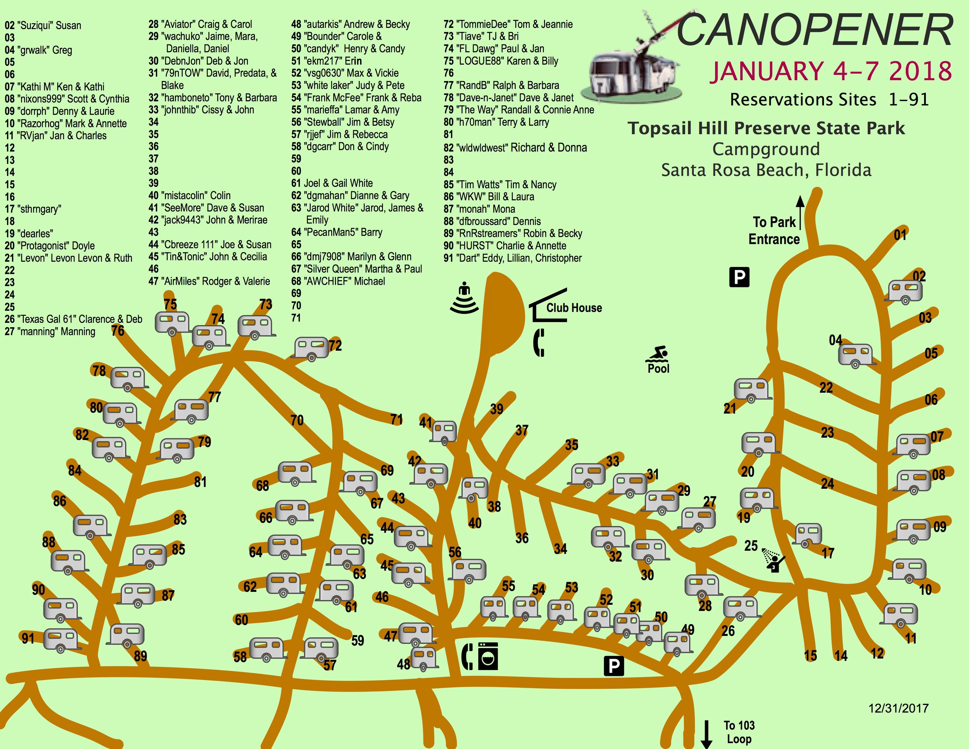 Canopener 2018 Map Sites 1-99