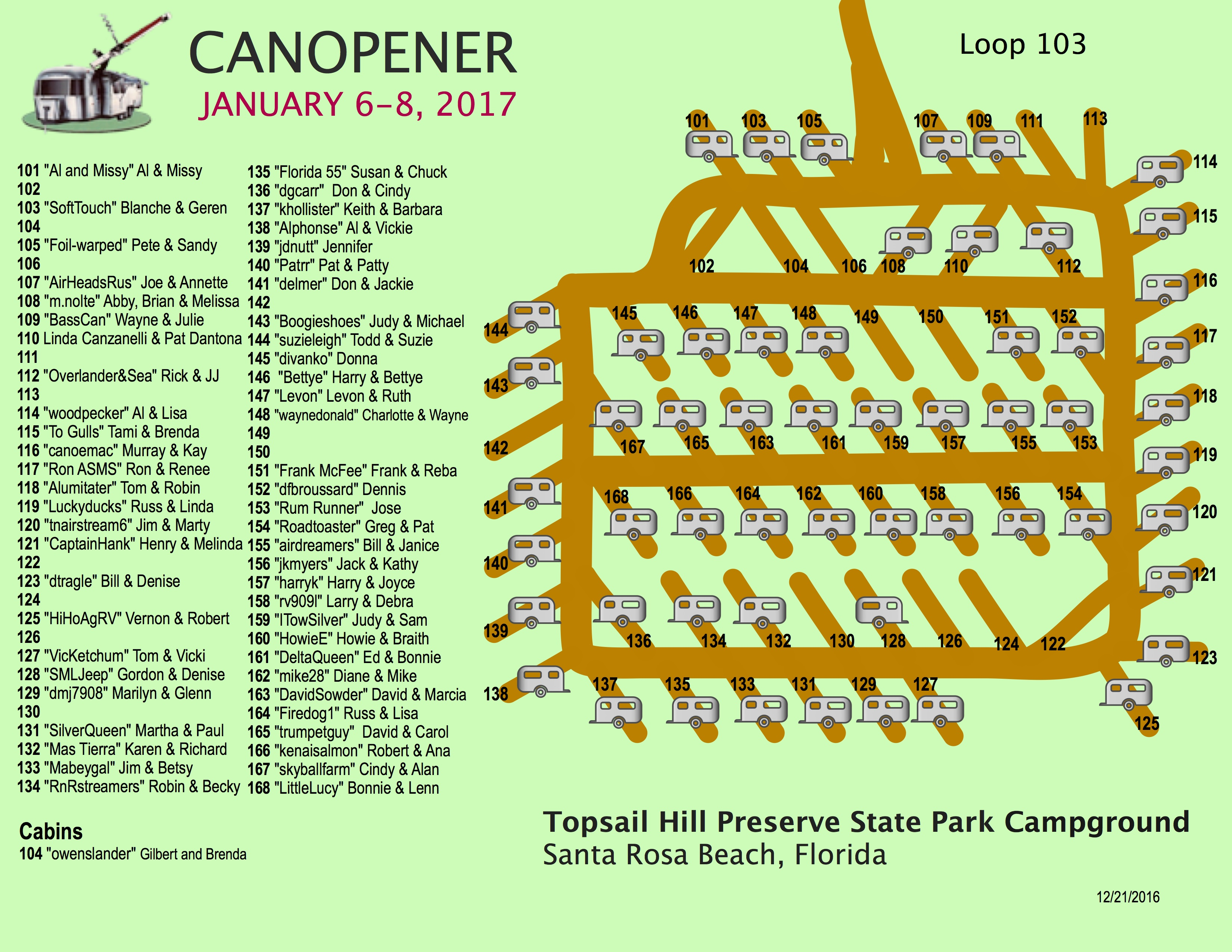 Canopener 2017 Rally Map 103 Loop