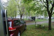 Seasonal Campers Setting Up At Brantford, On.