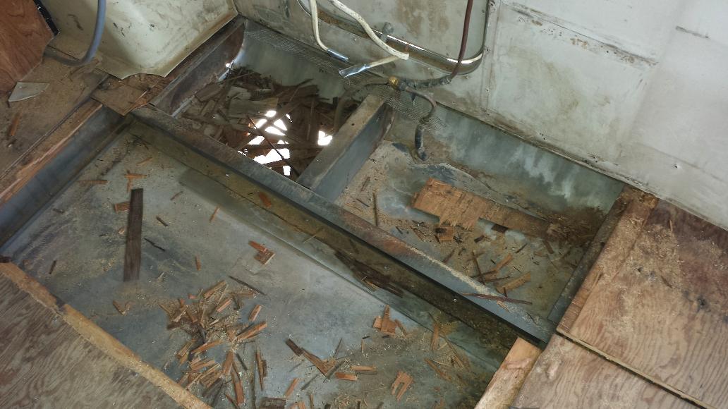 Removing Floor Under Fridge