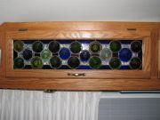 Wine bottle cabinet panels