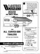 CareFree Awning Manual Page 1