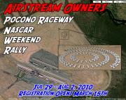 2010 Airstream Pocono Raceway Rally Aerial View