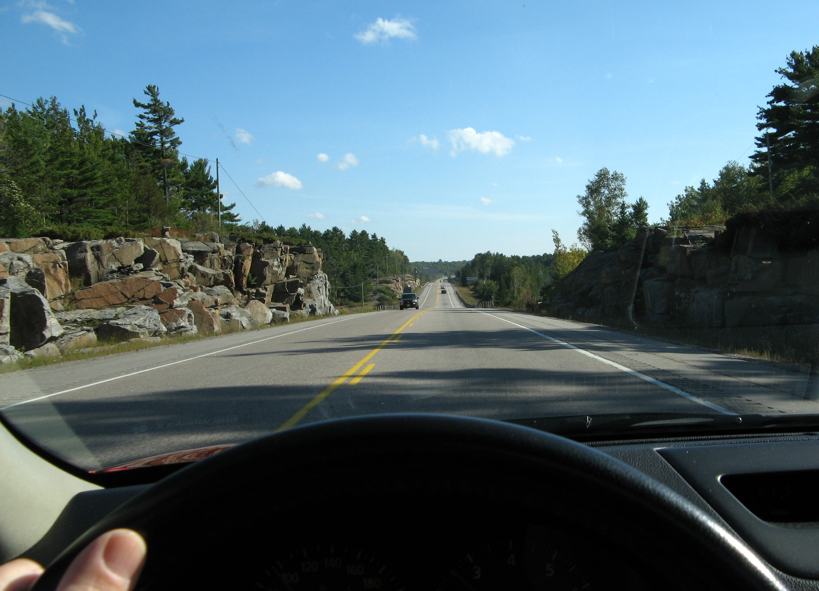 Touring on Hwy 69 Northern Ontario.