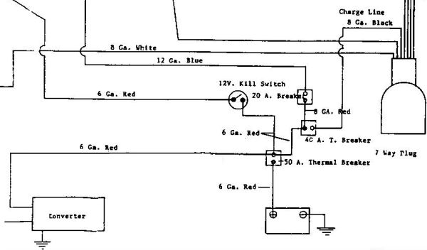 1992 21 U0026 39  Sovereign - Single Battery Wiring Diagram