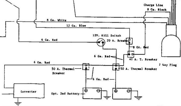 1992 21 U0026 39  Sovereign - 2 Battery Wiring Diagram