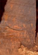 Indian Petroglyphs, Potash Canyon, Utah