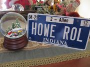 New Snow Globe And License Plate
