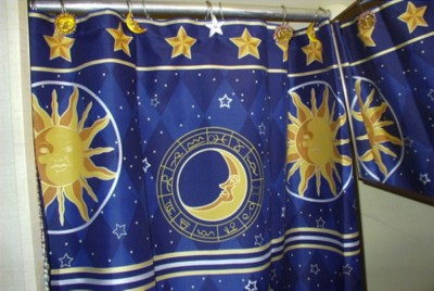 Attractive New Celestial Shower Curtain