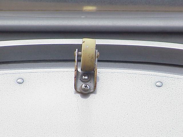 Awning Door Glide Closeup - 1964 Overlander