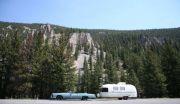 1975 Cadillac Eldorado Convertible With 1978 Argosy Minuet 6.0 Metre In Yellowstone National Park