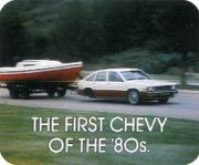 1980 Chevrolet Citation Towing Trailer W/o Rear Wheels
