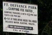 Fort Defiance Campground & Park Entrance