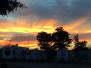 Sunset At Kansas Campground