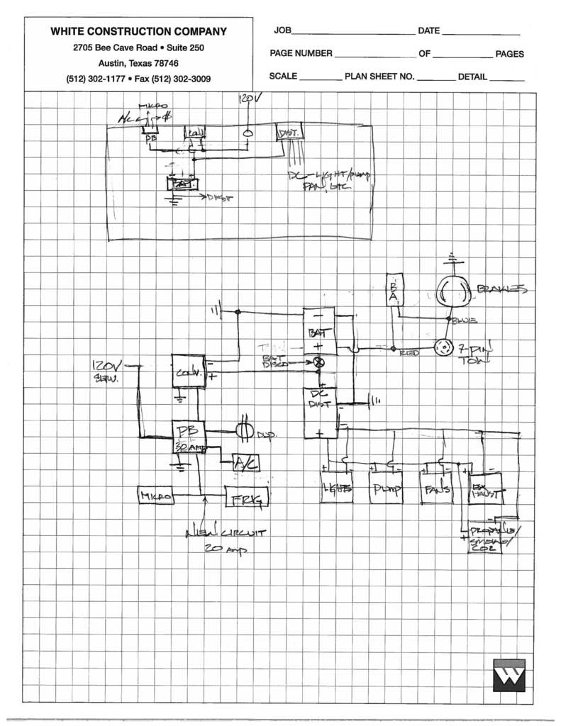 caravel schematics for ac dc electrical plumbing and gas lines