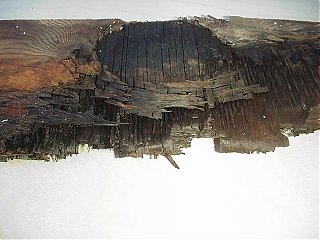 Click image for larger version  Name:Plywood damage under rear C channel.JPG Views:209 Size:42.1 KB ID:11312
