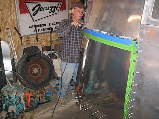 Click image for larger version  Name:Drilling and Clecoing the New Panel.JPG Views:78 Size:89.3 KB ID:114712