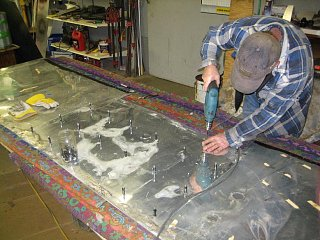 Click image for larger version  Name:Drilling Holes in New Front Skin.JPG Views:84 Size:91.0 KB ID:114952