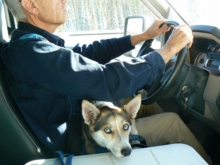 Click image for larger version  Name:JD and Mika driving wolf creek pass resized for upload.jpg Views:80 Size:153.2 KB ID:117352