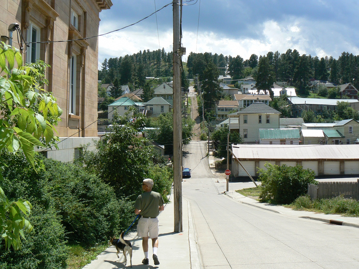 Click image for larger version  Name:Beside Lead Post Office and view of part of my route.jpg Views:46 Size:780.9 KB ID:136885
