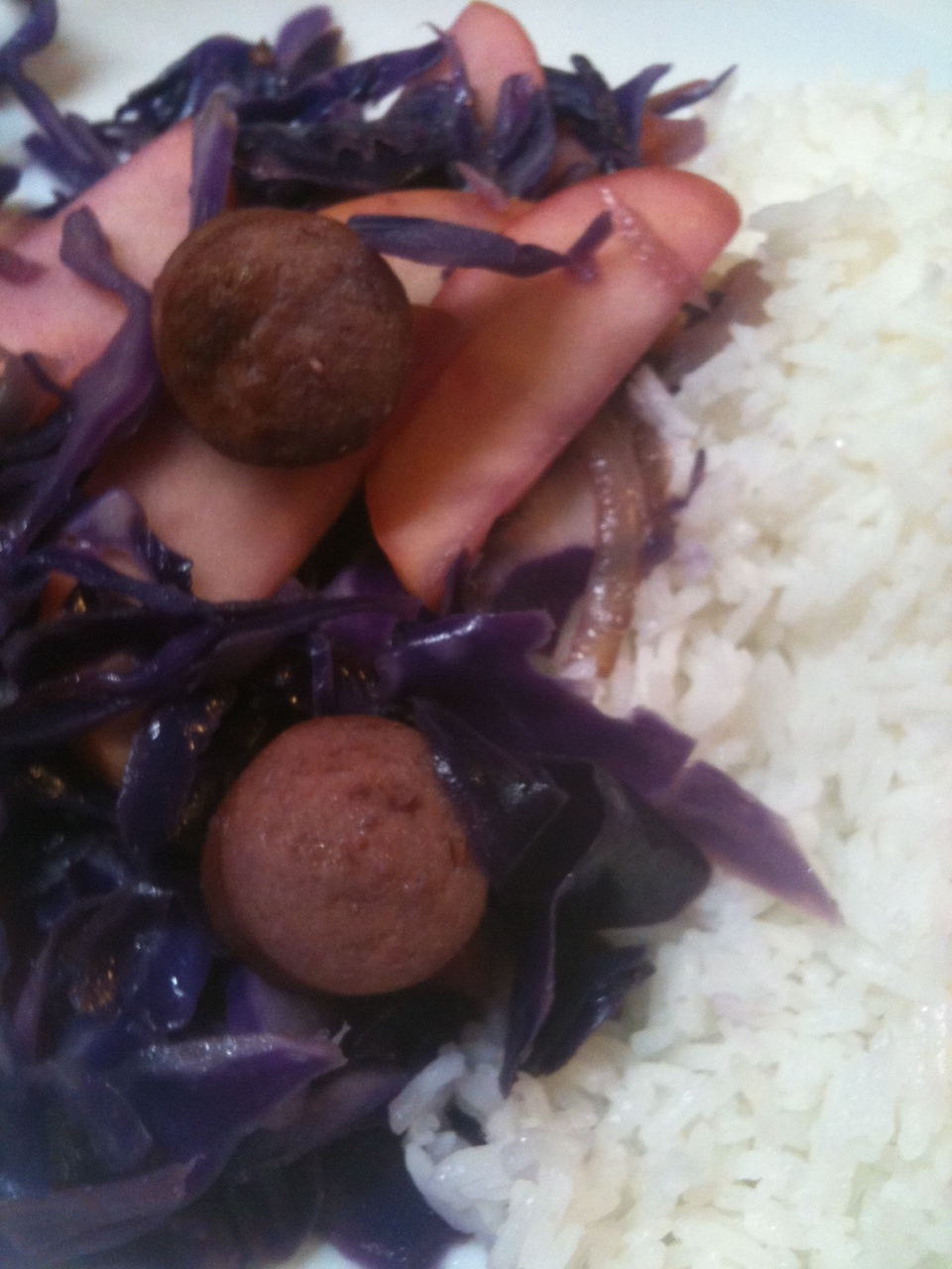 Click image for larger version  Name:Red Cabbage with Hot Dogs 030112.JPG Views:47 Size:357.2 KB ID:152905