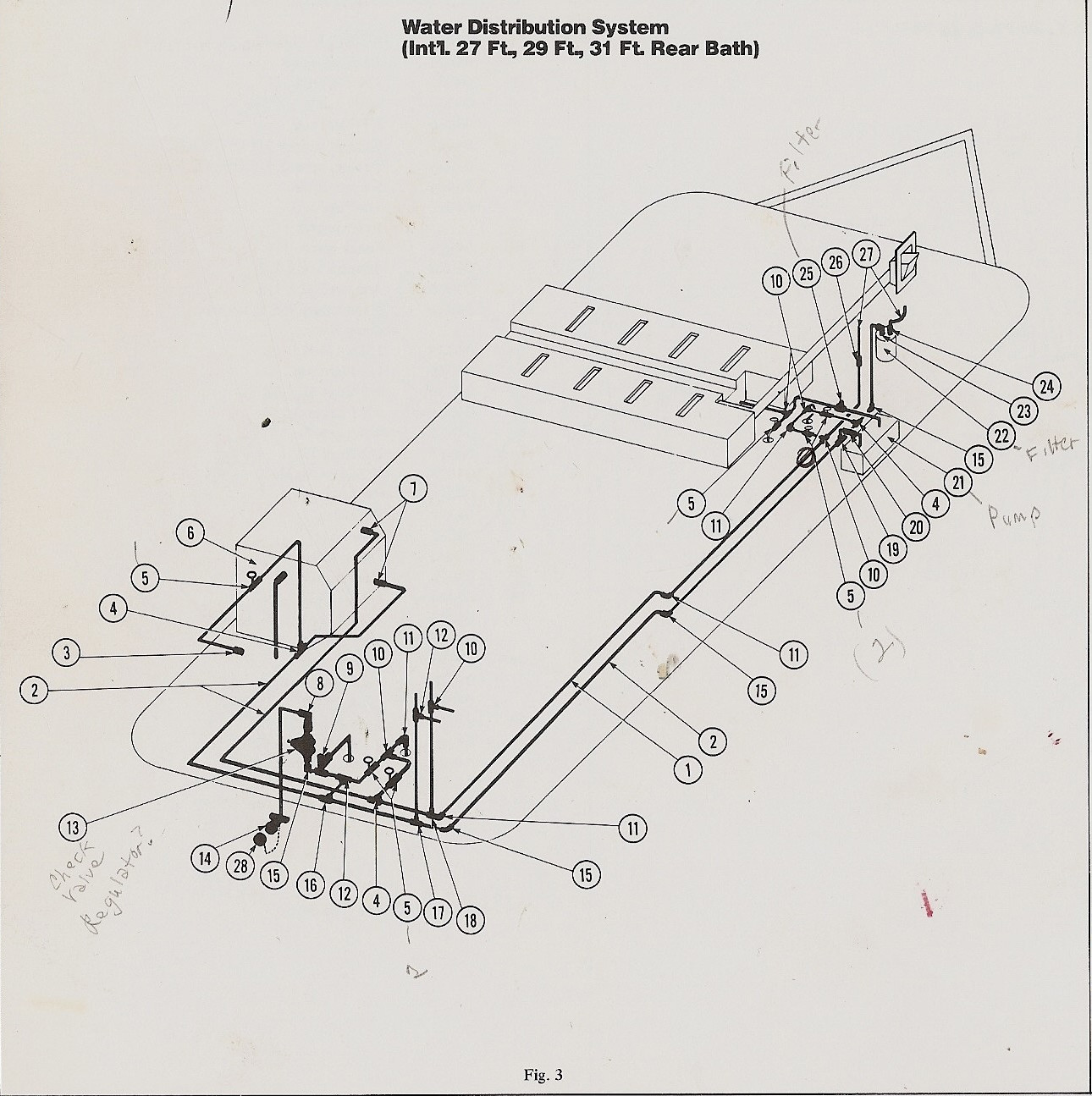 Water Pipes And Unknown Fixtures 1975 31 Sovereign Airstream Forums Plumbing Schematics Click Image For Larger Version Name Airstrem 74 Views