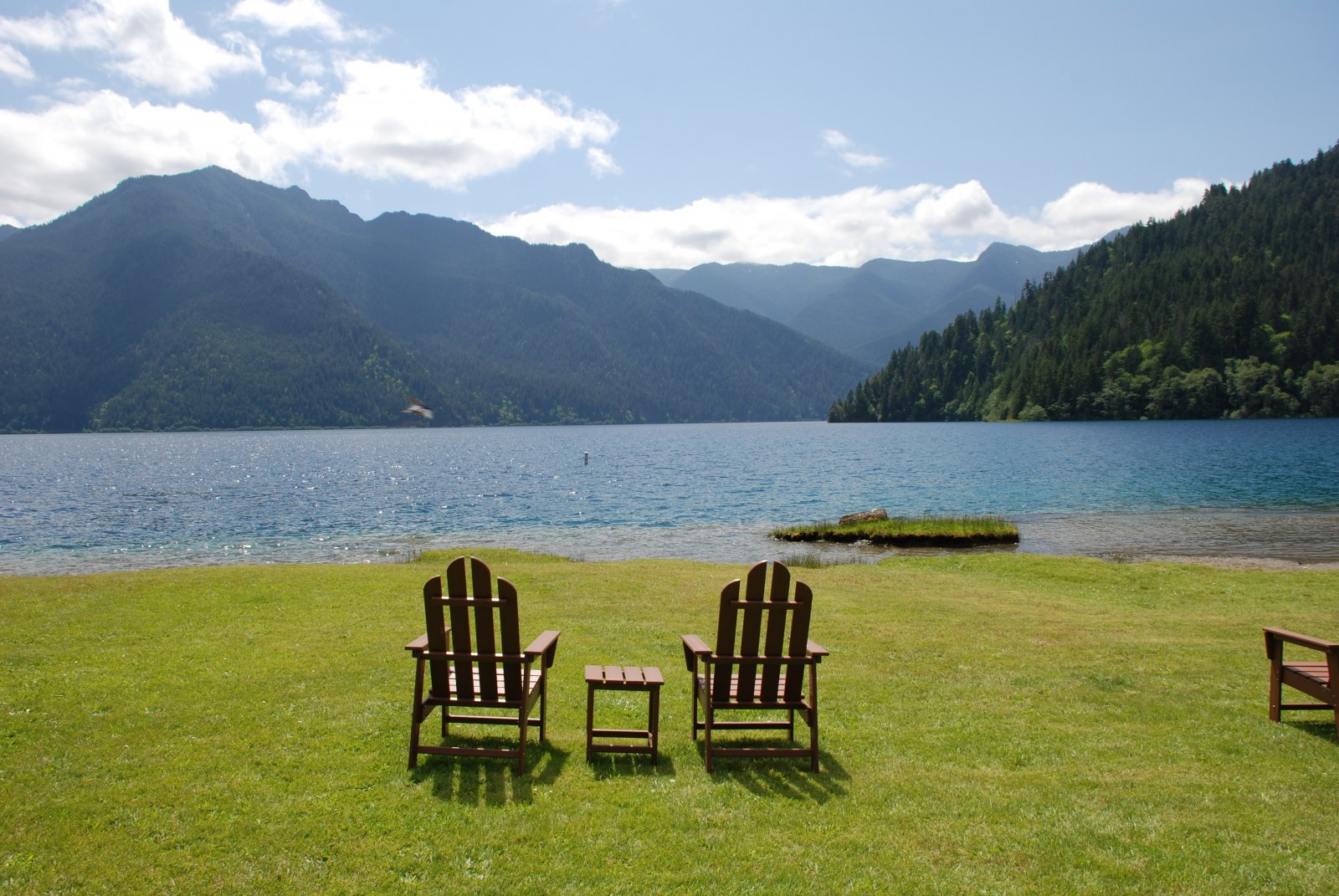 Click image for larger version  Name:Chairs and Lake Crescent View at Log Cabin Resort.jpg Views:74 Size:335.0 KB ID:217634