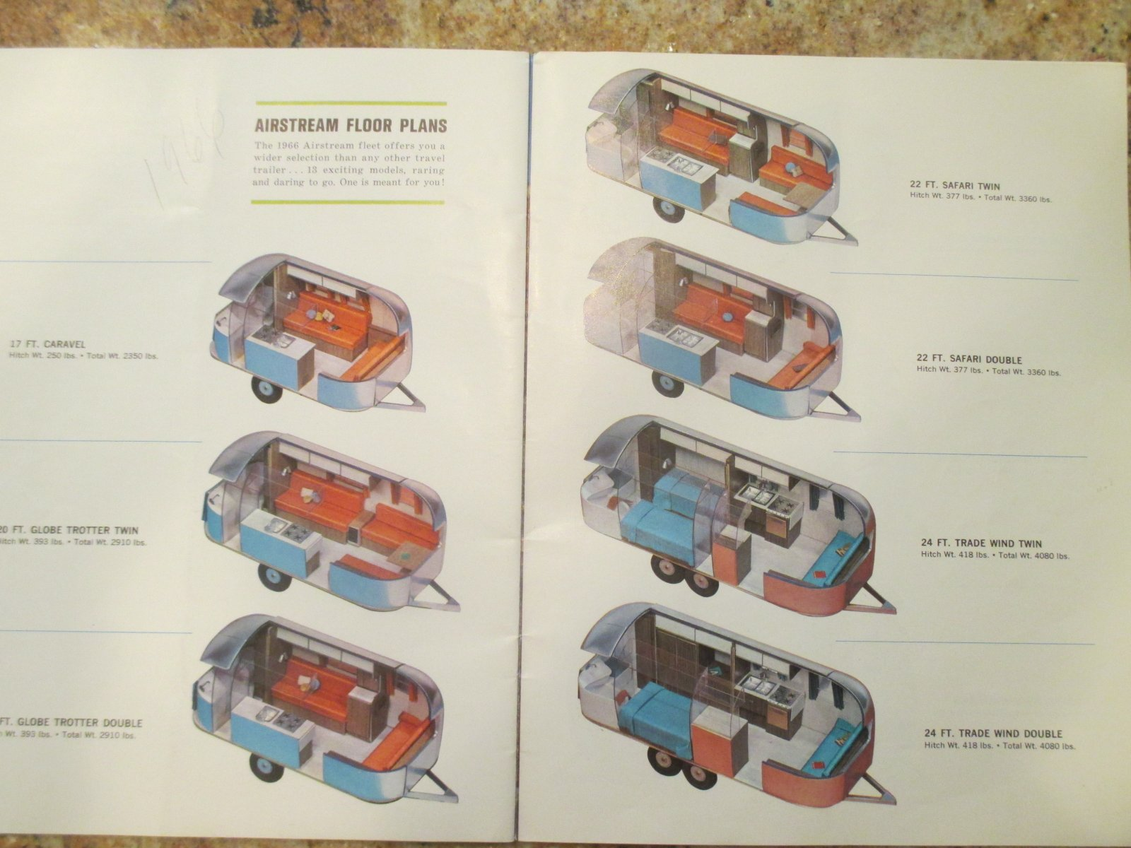 Interior Dimensions 1966 Safari Twin - Airstream Forums