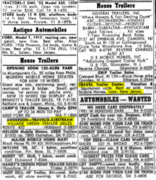 Click image for larger version  Name:Philidelphia Inquirer Trailer Dealer Ads April 20 1960.JPG Views:83 Size:85.2 KB ID:254829