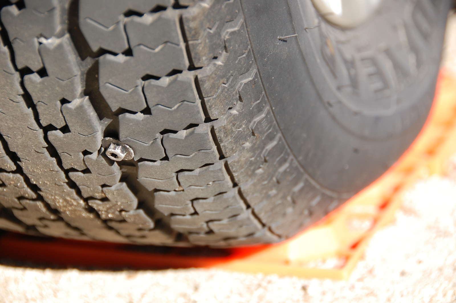 """Click image for larger version  Name:DSC_0014 1"""" machine screw in tire.jpg Views:89 Size:317.0 KB ID:254973"""