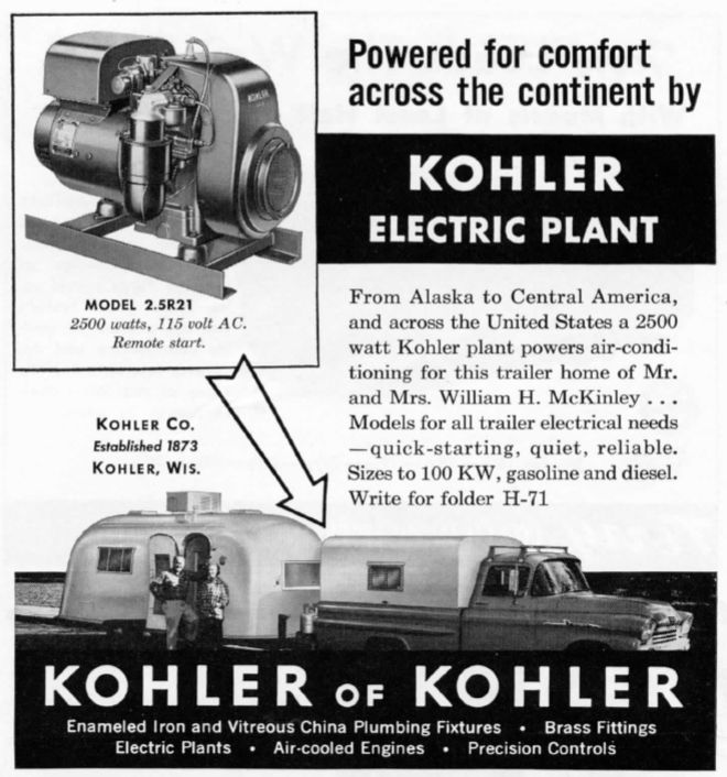 Click image for larger version  Name:Kohler Ad from Trailer Topics May 1960.JPG Views:75 Size:93.6 KB ID:281427